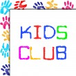Kids Club Represents Toddlers Association And Childhood — Stock Photo #53360517