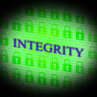 Постер, плакат: Integrity Data Represents Bytes Facts And Decency