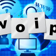 ������, ������: Voip Communication Shows Voice Over Broadband And Chat