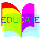 Educate Education Indicates Study Learn And Training — Stock Photo
