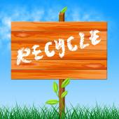 Recycle Recyclable Indicates Eco Friendly And Bio — Stock Photo