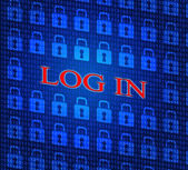 Log In Indicates World Wide Web And Encryption — Stock Photo