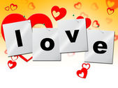 Love Heart Means Romantic Relationship And Affection — Stock Photo