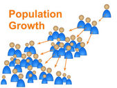 Population Growth Shows Family Reproduction And Expecting — Stock Photo