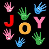 Joy Kids Shows Happy Positive And Joyful — Stock Photo