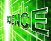 Science Online Means World Wide Web And Internet — Stock Photo