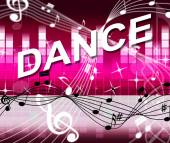 Dancing Music Shows Sound Track And Melody — Stockfoto