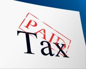 Paid Taxes Represents Confirmation Duties And Excise — Stock Photo