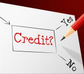 Credit Choice Represents Debit Card And Alternative — Stock Photo