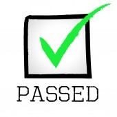 Tick Passed Means Yes Endorsed And Confirmed — Stock Photo