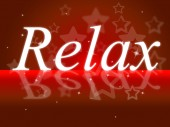 Relax Relaxation Indicates Tranquil Resting And Relief — Foto de Stock