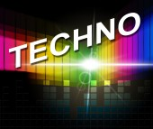 Techno Music Shows Sound Track And Audio — Stock Photo