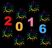 New Year Shows Two Thosand Sixteen And Celebrate — Foto Stock