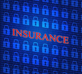 Online Insurance Represents World Wide Web And Indemnity — Stock Photo