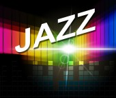 Jazz Music Indicates Sound Track And Audio — Stockfoto