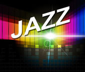 Jazz Music Indicates Sound Track And Audio — 图库照片