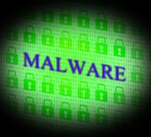 Internet Malware Means World Wide Web And Attack — Stock Photo