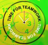 Time For Teamwork Represents Networking Group And Organized — Stock Photo