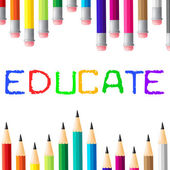 Education Educate Means Studying Learned And College — Stock Photo