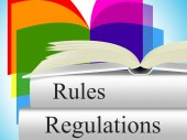 Regulations Rules Shows Regulate Guidelines And Guideline — Stock Photo