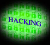 Hacking Online Indicates World Wide Web And Unauthorized — Stock Photo