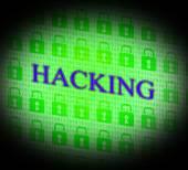 Hacking Online Indicates World Wide Web And Unauthorized — Stock Photo