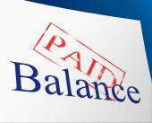 Balance Paid Indicates Confirmation Bills And Equality — Stok fotoğraf