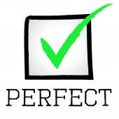 Tick Perfect Means Number One And Approved — Stock Photo