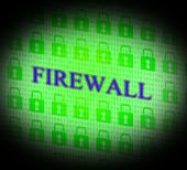 Firewall Security Means No Access And Encrypt — Stock Photo