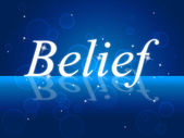 Believe Word Represents Belive In Yourself And Confidence — Stock Photo