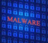 Malware Internet Represents World Wide Web And Www — Stock Photo