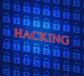 Online Hacking Indicates World Wide Web And Internet — Stock Photo