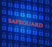 Safeguard Safety Represents Privacy Key And Protected — Stock Photo