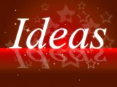 Ideas Word Shows Think About It And Contemplation — Stock Photo