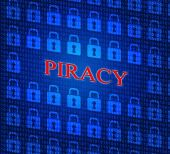 Copyright Piracy Means Protection License And Protected — Stock Photo