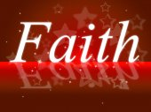 Trust Faith Indicates Believe In And Trustfulness — Stock Photo