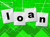 Borrow Loans Means Borrows Credit And Borrowing — Foto de Stock