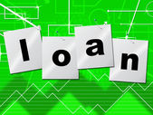 Borrow Loans Means Borrows Credit And Borrowing — Foto Stock