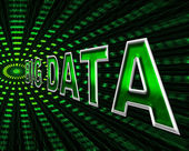 Big Data Shows Info Bytes And Byte — Stock Photo