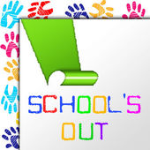 School's Out Indicates End Educate And Educated — Stock Photo