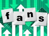 Online Fans Represents World Wide Web And Follower — Stock Photo