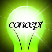 Concepts Concept Indicates Thoughts Invention And Theory — Stock Photo