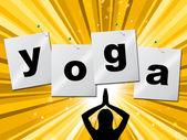 Yoga Pose Shows Meditate Zen And Posture — Stock Photo