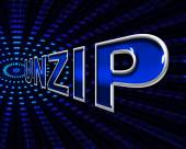 File Unzip Represents Files Business And Document — Stok fotoğraf