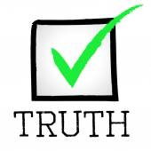 Tick Truth Shows No Lie And Approved — Foto Stock