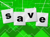 Savings Save Indicates Monetary Money And Capital — Stock Photo