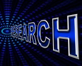 Online Research Means World Wide Web And Analyse — Stock Photo
