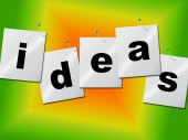 Word Ideas Represents Create Inventions And Creativity — Stock Photo