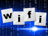 Wifi Connection Shows Computer Transmission And Access — Stock Photo