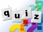 Quiz Questions Means Frequently Puzzle And Quizzes — Stock Photo
